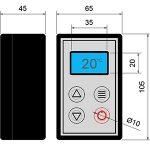 DC10 Digital Temperature Controller dimensions.